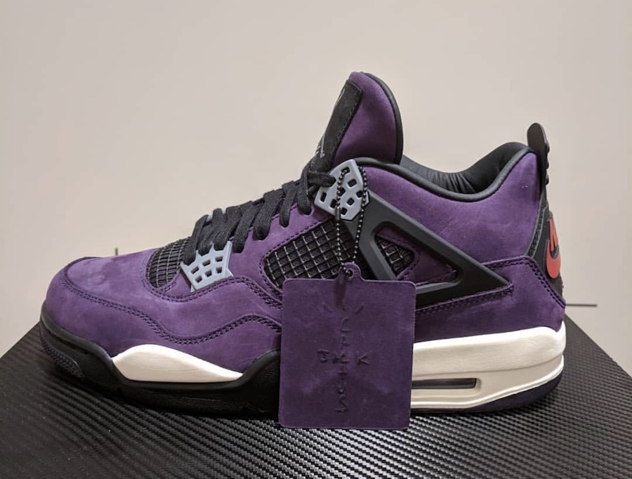 Nowe Zdjęcia Travis Scott X Air Jordan 4 'Purple Suede'