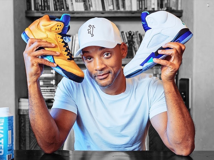 Will Smith Robi Unboxing Swoich Air Jordan 5 'Fresh Prince'