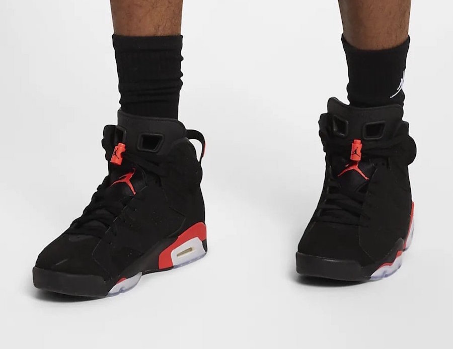 On Feet: Air Jordan 6 'Black Infrared'