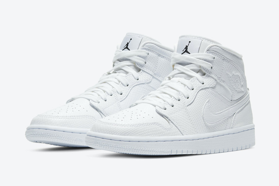 Air Jordan 1 Mid 'White Snakeskin'