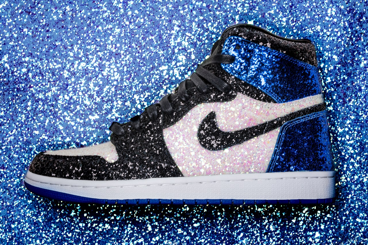 Fragment Design x Air Jordan 1 'Glitter' By The Shoe Surgeon