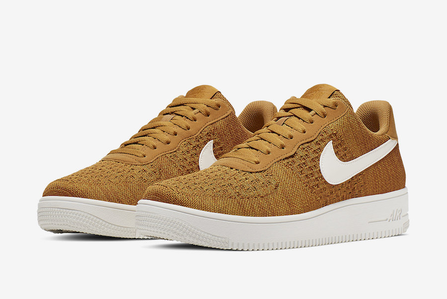 Nike Air Force 1 Flyknit 2.0 'Gold Suede'