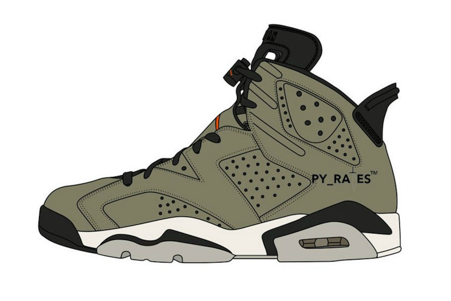 Travis Scott x Air Jordan 6 'Medium Olive' - Zapowiedź