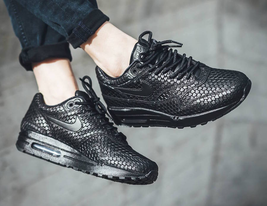 the best attitude 84d2c ff42d Damskie Nike Air Max 1 Premium Black Scales
