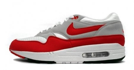 Nike Air Max 1 White/Red/Grey QS