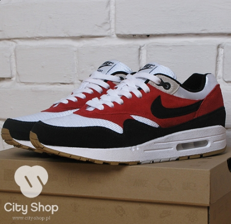 Nike Air Max 1 - West - White/Black/Red