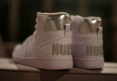 Nike Terminator High Premium 'Noise' - White/Metallic Silver