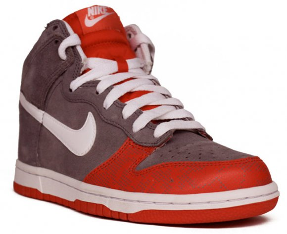 Nike WMNS Dunk High Grey/Challenge Red
