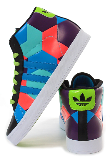 Adidas Originals Campus Street Mid - Black/Aqua/Pop