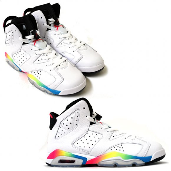Air Jordan VI Retro GS - White/Rainbow