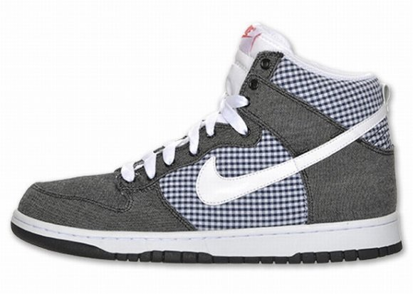 Nike Dunk Hi - Denim/Gingham