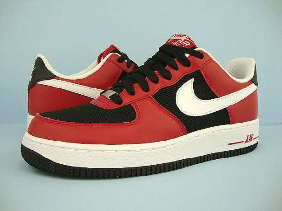 Nike Air Force 1 - Varsity Red/Black/Hemp