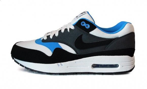 Nike Air Max 1 White/Blue/Black & Light Bone/Speed Yellow