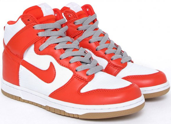 Nike WMNS Dunk Hi White/Team Orange - Wiosna 2010