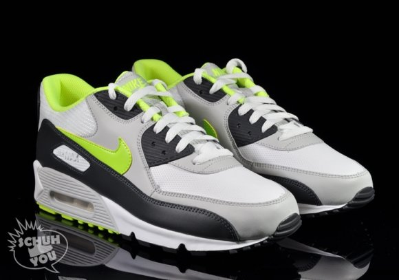 Nike Air Max 90 White/Volt-Natural Grey-Anthracit