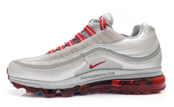 Nike Air Max 24-7 - Metallic Silver/Red - Jesien 2010