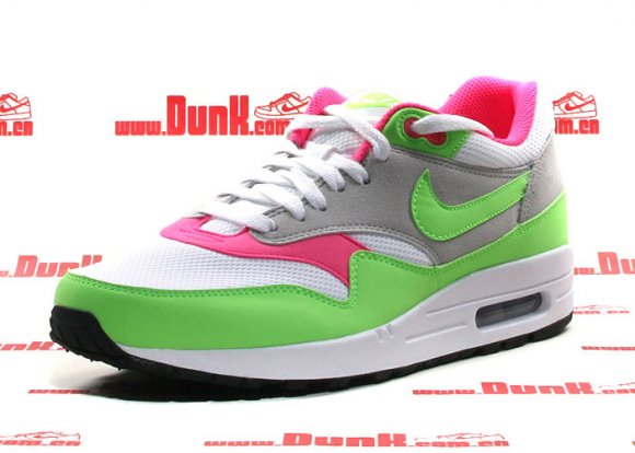 Nike Air Max 1 Electric Green/Neutral Grey-Pink