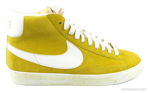 Nike Blazer High VNTG Suede Yellow Grey - Jesień/Zima 2010
