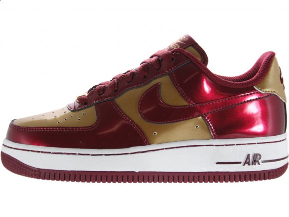 Nike Air Force 1 Low GS Team/Red-Metallic/Gold-White