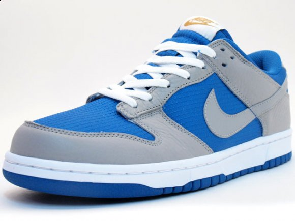 Nike Dunk Low Grey/Blue & White/Green