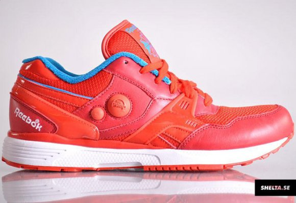 Reebok Dual Running Pump Pyro Red