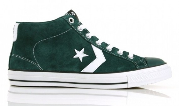 Converse Black Flag Star Player Skate Mid - Green