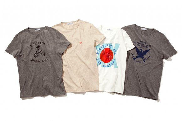 A.P.C. Japan 20th Anniversary Tees