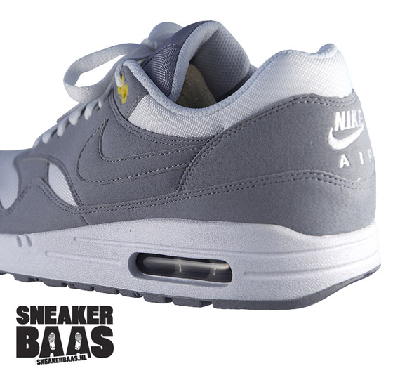 Nike WMNS Air Max 1 - Wolf Grey/White - Yellow