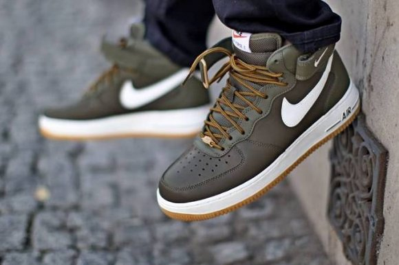 buty nike air force 1 mid 07 medium olive