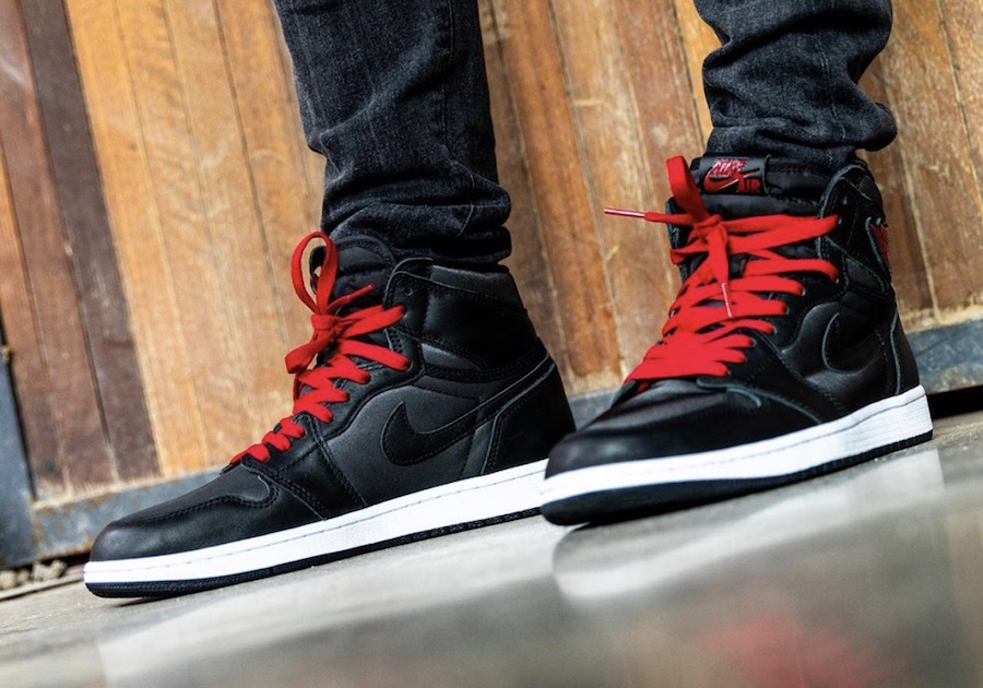 On Feet: Air Jordan 1 High OG 'Black Satin'