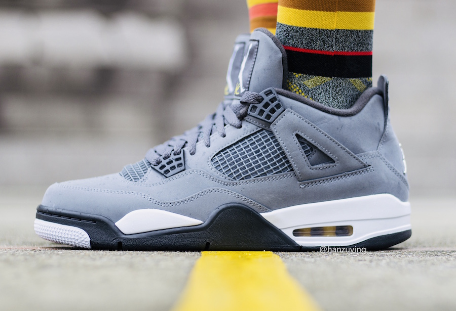 On Feet: Air Jordan 4 'Cool Grey'