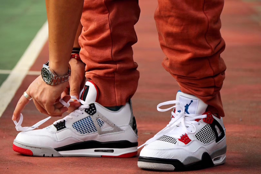 On Feet: Air Jordan 4 'What The'