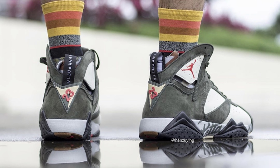 On Feet: Patta x Air Jordan 7