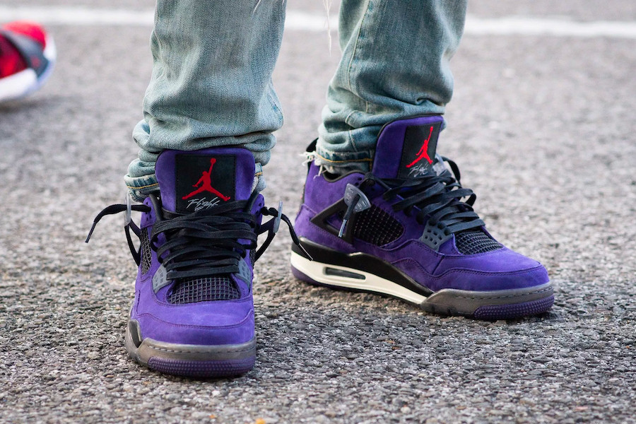 Travis Scott X Air Jordan 4 'Purple Suede'